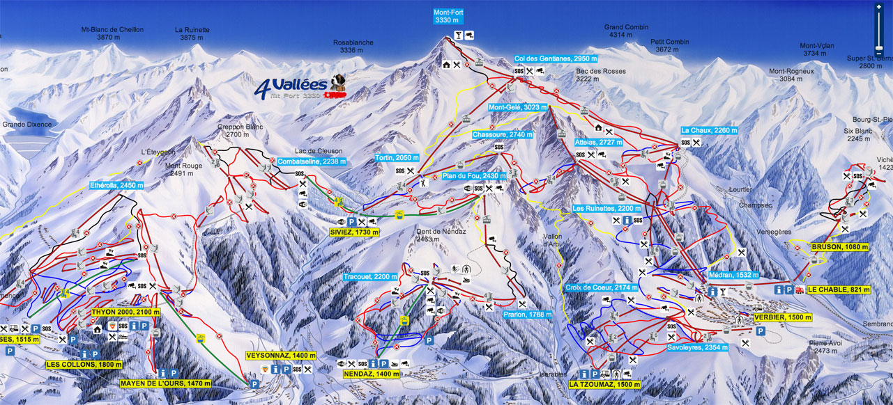 4Vallees-ski-school-ski-map